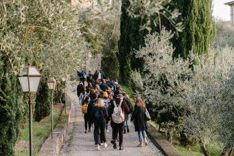 Students walking outdoor